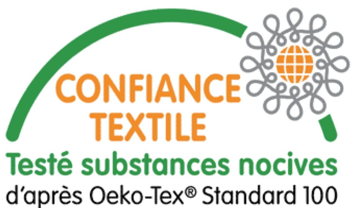 Logo Certifié Confiance Textile OEKO-TEX Standard 100